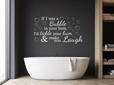 Funny Bathroom Wall Quote 'If I Was A Bubble...'Wall Decal, Art, Sticker, Vinyl • 17.95£