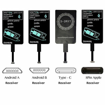 $ CDN4.43 • Buy Qi Wireless Charger Receiver Charging Adapter Micro USB Type C Android IPhone