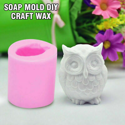 Resin Mould 3D Wax Silicone Art Molds Mold DIY Owl Bird Craft Candle New Soap • 2.97£