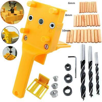Woodworking Doweling Jig Drill Guide Wood Dowel Drill Hole Tool 6 8 10mm • 8.92£