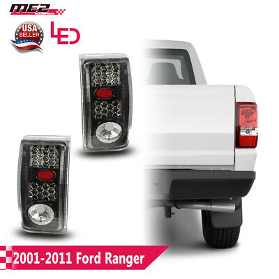 $65.42 • Buy Fits 01-11 Ford Ranger LED Tail Lights PAIR Glossy Black Housing Clear Lens