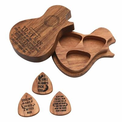 $ CDN25.42 • Buy Personalized Engraved Wooden Guitar Picks Plectrum Wooden Mediators Box Gift New