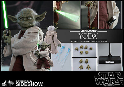 $219.99 • Buy Hot Toys Star Wars Yoda 1/6 Scale Figure Ep II Attack Of The Clones Jedi New