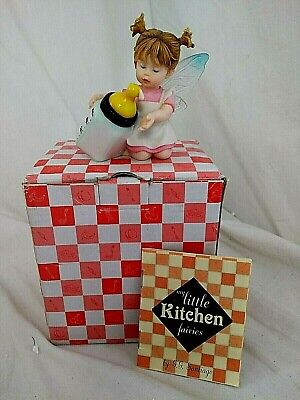 Enesco My Little Kitchen Fairies Milk Check Fairy 119276 Figurine • 14.99£