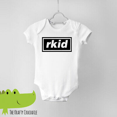 Oasis Funny RKid Baby Shower Vest Babygrow Grow Bodysuit Gift Indie Music • 4.99£