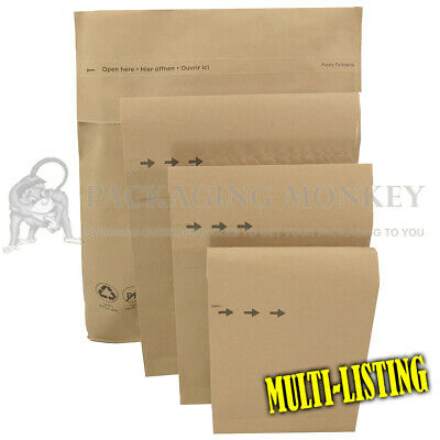 £5.30 • Buy Natural Brown Kraft Paper Mailing Bags Durable Parcel Eco Mailers *all Sizes*