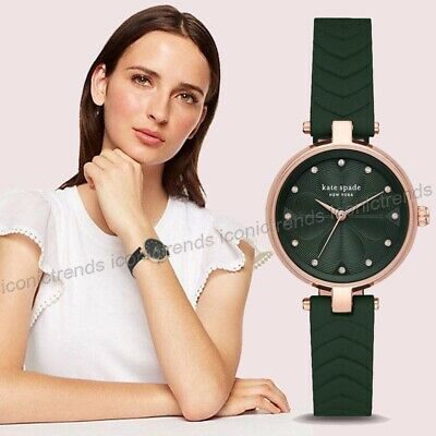 $ CDN82.92 • Buy NWT 🌸 Kate Spade KSW1544 Annandale Green Quilted Leather 30mm Rose Gold Watch