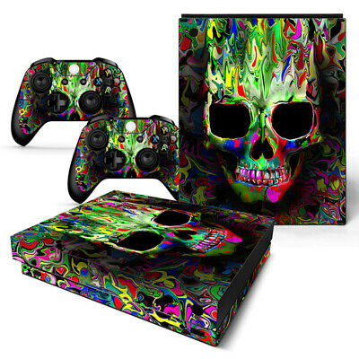 $13.97 • Buy Xbox One X Skin Console & 2 Controllers Groovy Neon Skull Decal Vinyl Wrap