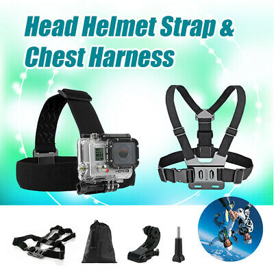 AU12.99 • Buy Head Helmet Strap Chest Harness Mount GoPro 9 8 7 6 5 Go Pro Accessorises Chesty