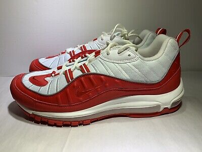 $109.97 • Buy Nike Air Max 98 University Red White Running Shoes Mens Size 11.5 ( 640744-602 )