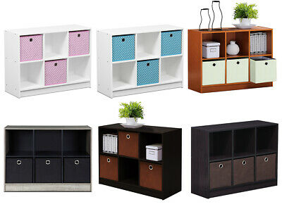 £44.99 • Buy 6 Cube Wooden Storage Bookcase Shelving Display Unit