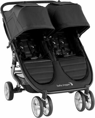 Baby Jogger City Mini 2 Twin Baby Double Stroller Jet NEW 2020 • 325.61£