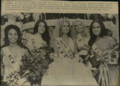 $16.88 • Buy 1972 Press Photo Tanya Wilson, Miss USA, With Runners Up, Puerto Rico