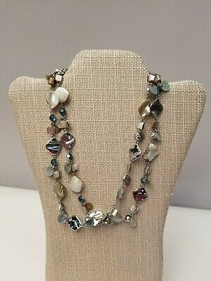 $ CDN28.84 • Buy Lia Sophia OCEAN AIR Long Necklace Mother Of Pearl Abalone 43  Boho Chic
