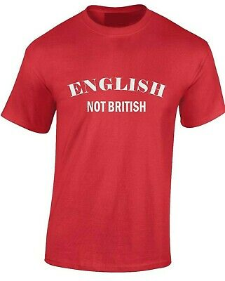 English Not British T-Shirt St George's Day Brexit Patriotic Cross Sm -XXXL • 9.75£