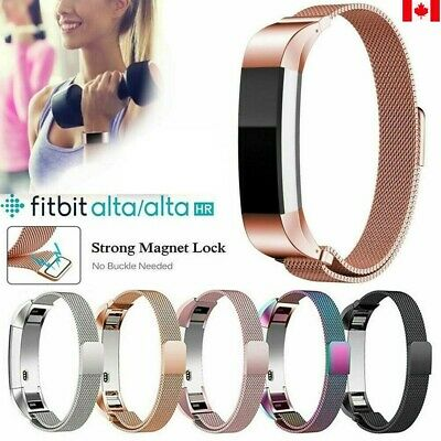 $ CDN11.99 • Buy For Fitbit Alta / Alta HR Stainless Steel Magnetic Replacement Spare Band Strap