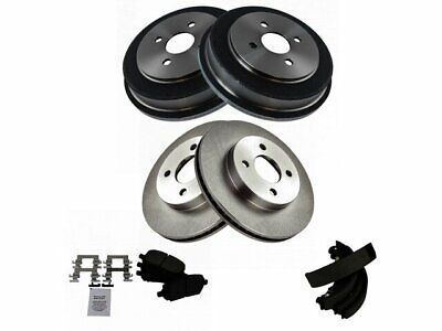 $149.96 • Buy For 2003-2007 Saturn Ion Brake Pad Rotor Shoe Drum Kit Front And Rear 56518JV