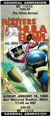 $7.96 • Buy 1998 HULA BOWL College Football All-Star Classic FULL UNUSED TICKET Maui, Hawaii