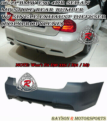 $524.99 • Buy MP-Style Rear Bumper (Single Exhaust) Fits 06-11 BMW E90 3-Series 4dr 325i 328i