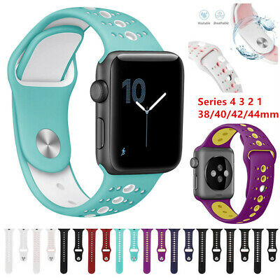 $ CDN12.25 • Buy For Apple Watch Band Series 5 4 3 21 Sport Wristband Silicone IWatch Strap Band