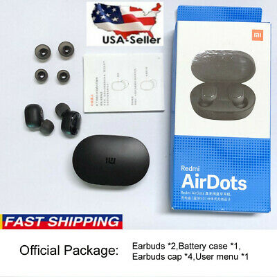 $12.99 • Buy Original-NEW XIAOMI Redmi AIRDOTS WIRELESS EARPHONE W/ CHARGER BOX Bluetooth 5.0