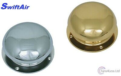 Polished Chrome Brass Bell Top Mushroom Vent Caravan Motorhome Marine Canal Boat • 39.99£