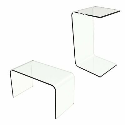 $89.99 • Buy Acrylic End Table Clear C Style Modern See Through Laptop Desk Bed 24 X 14 X 12