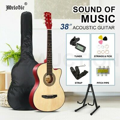AU69.95 • Buy Melodic 38Inch Acoustic Guitar Wooden Folk Full Size Classical W/Bag Tuner