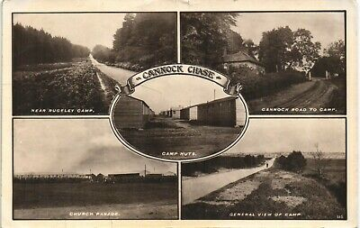 Cannock Chase Multiview By W.H.Smith, Stafford. Camp Huts. • 10£