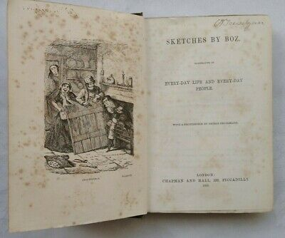 Charles Dickens Sketches By Boz Antique 1858 Cheap Ed Frontis George Cruikshank • 49.95£