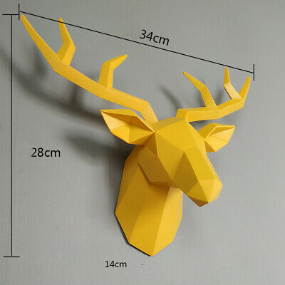 Home Statue Decoration Accessories 34x28x14cm Vintage Antelope Head Abstract • 32.15£