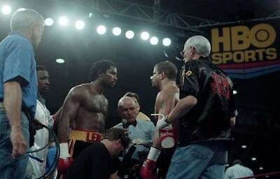 LARGE OLD BOXING PHOTO Lennox Lewis Meets Tommy Morrison • 4.69£