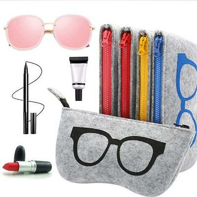 AU2.03 • Buy Colorful Zipper Felt Sunglasses Case Glasses Box Eyewear Pouch Eyeglass Bag BM