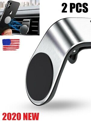 $9.99 • Buy 2PCS Phone Holder Clip Car Air Vent Magnetic Bracket For Phone GPS Accessories