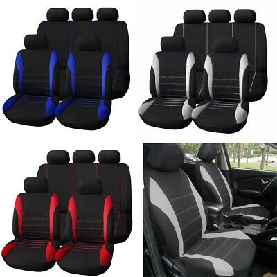 $ CDN31.03 • Buy 1x Set Of 9 Set Full Car Styling Seat Back Cover Bench For Auto Interior Decor