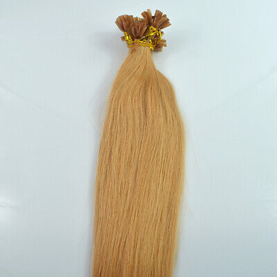 $30.41 • Buy Lady Straight Keratin Fusion Nail U Tip Remy Pre Bonded Hair Extension 24  1g/s
