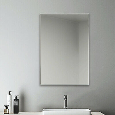 £44.99 • Buy Plain Frameless Wall Mirror Large Full Length With Wall Hanging Fixings Bathroom