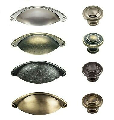 £2.85 • Buy Cup Or Knob Handles Shaker Kitchen Cabinet Doors & Drawers Ftd