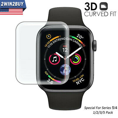 $ CDN4.50 • Buy For Apple Watch Series 5 4 3 2 1 3D Cuver Tempered Glass Full Screen Protector