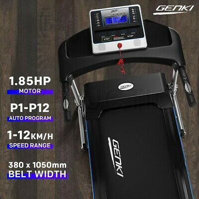 AU399.95 • Buy Genki Electric Treadmill 1.85HP Auto Exercise Machine Home Gym Running Fitness