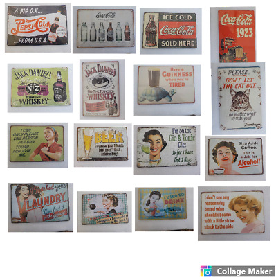 Retro Metal Signs 300mmx200mm  A4 SIZE • 3.95£