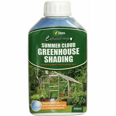 Liquid Greenhouse Shading Paint Vitax Summer Cloud 500ml Protects Plant From Sun • 9.91£