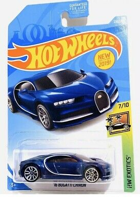 $3.50 • Buy HOT WHEELS EXOTICS '16 BUGATTI CHIRON - BLUE (2019) New In Package. 7/10 #236