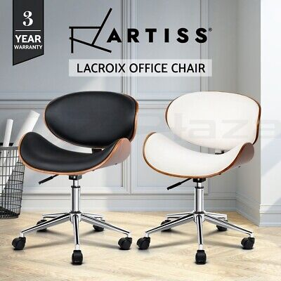 AU114.95 • Buy Artiss Office Chair Gaming Computer Chair Wooden Chairs PU Leather Black White