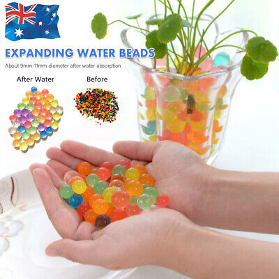 AU5.69 • Buy 10000+ Orbeez Water Aqua Soil Crystal Bio Gel Balls Beads Decoration Vase Filler