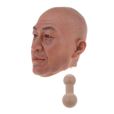$31.40 • Buy 1/6 Male Head Carved Sculpt With Head Connetor For 12'' TTL Enterbay