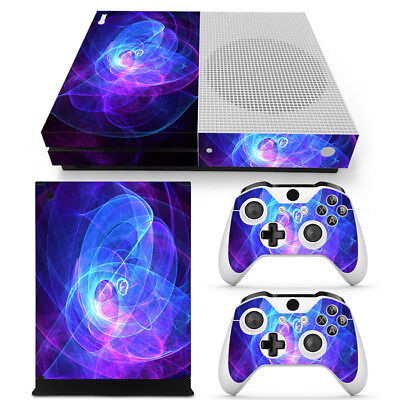 $13.97 • Buy Xbox One S Skin Cool Purple Swirl Console & 2 Controllers Decal Vinyl Wrap