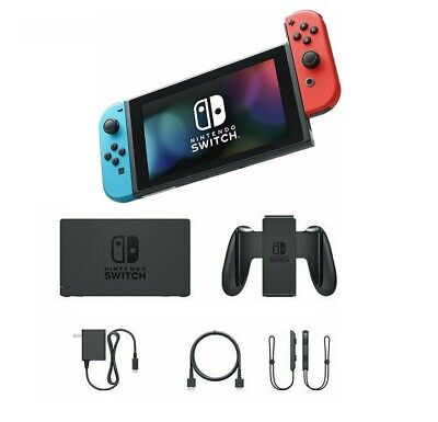 $261.20 • Buy Nintendo Switch 32GB Video Game Console Bundle With Neon Blue & Neon Red Joy-Con