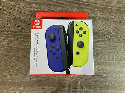 $68.99 • Buy Nintendo Switch Joy-Con (L)/(R) Blue/Neon Yellow SEALED NEXT DAY SHIPPING