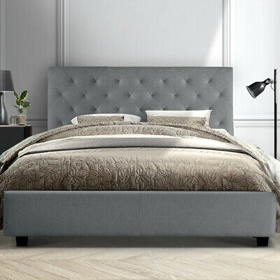 AU161.95 • Buy Artiss Bed Frame Double Full Size Base Mattress Platform Fabric Wooden